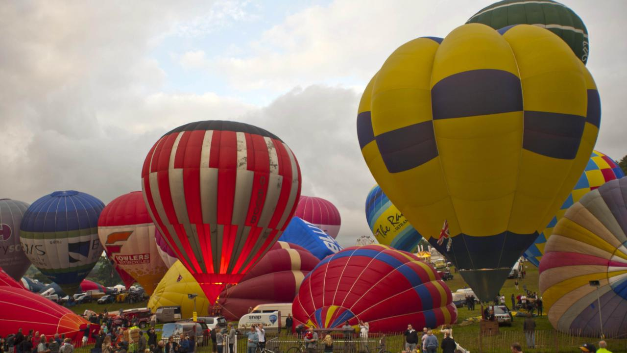 Balloons launching in Bristol