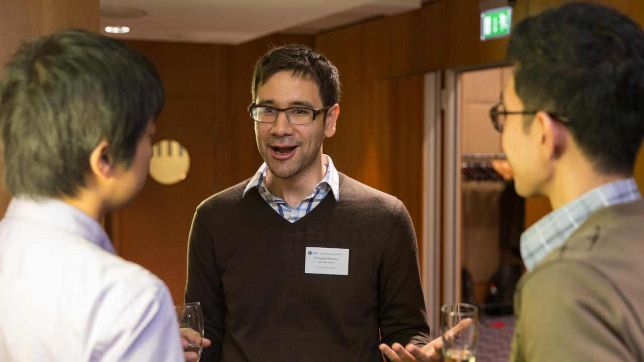 Christophe Dessimoz at an eLife event in 2014