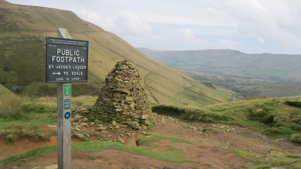 The way to Edale