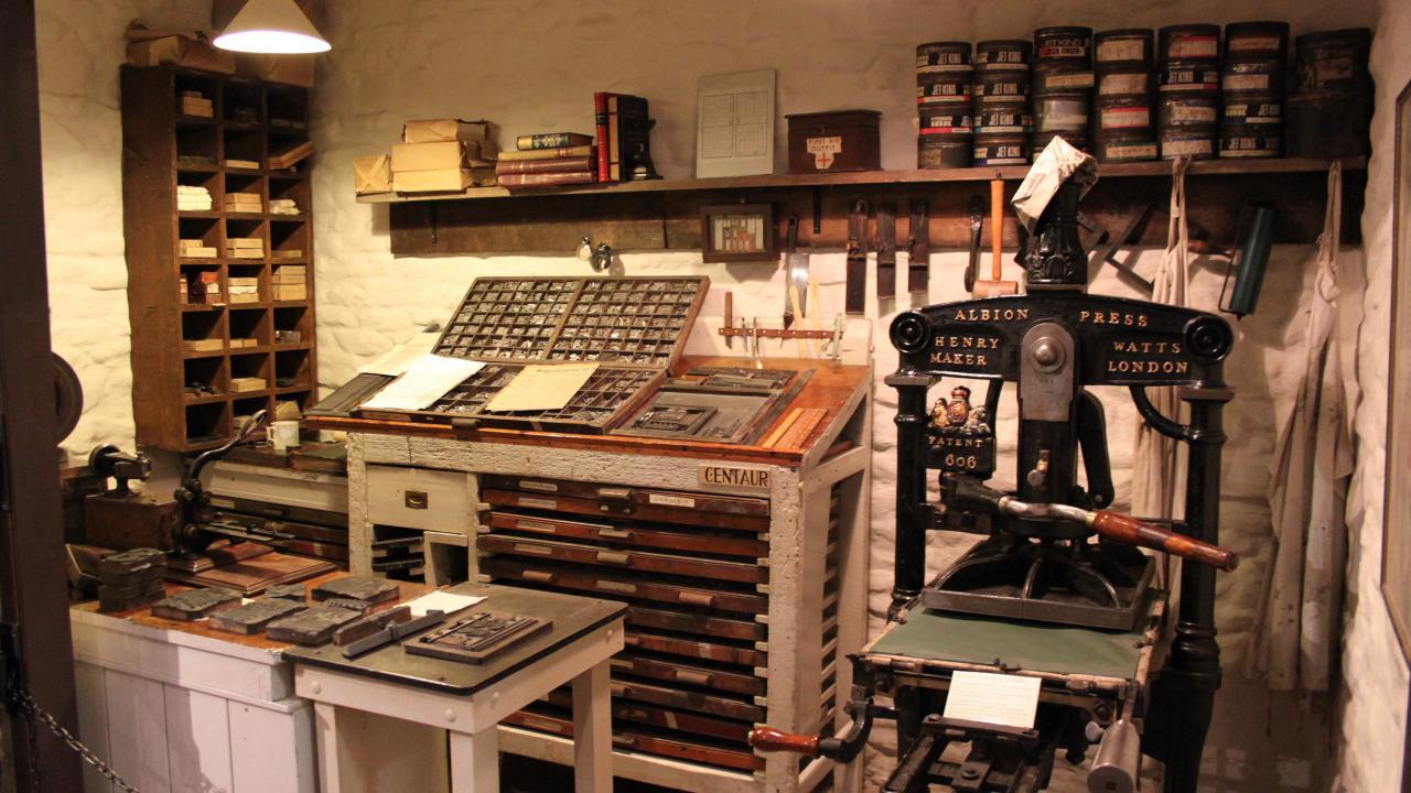 A printing press