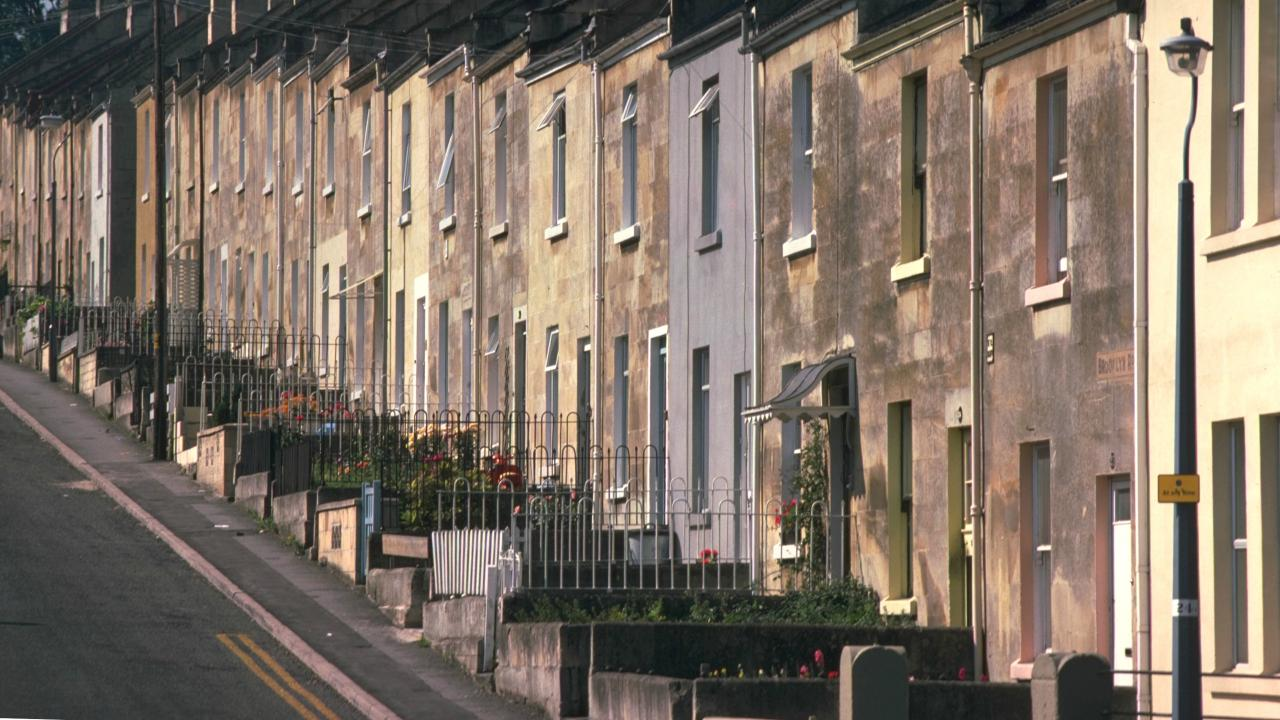 Terraced houses in Brooklyn Road, Bath